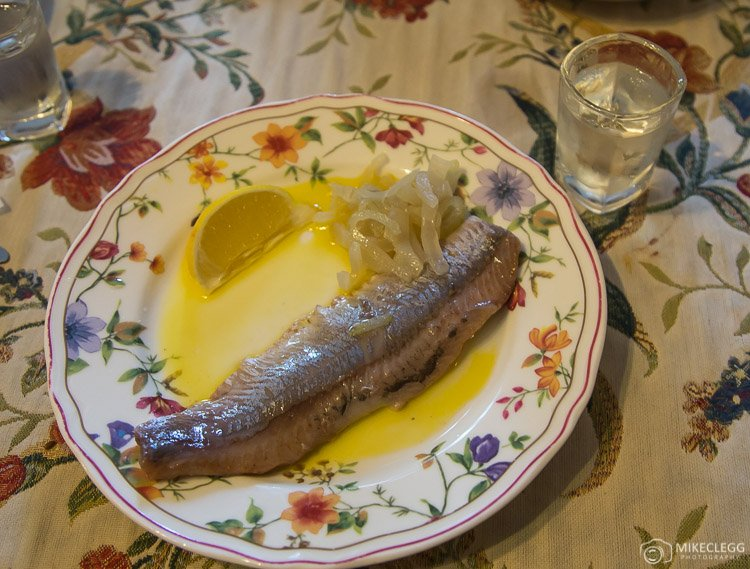 Polish dish of herring in a spicy sauce and vodka