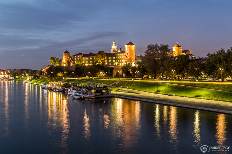 Wawel Royal Castle at Night, Krakow