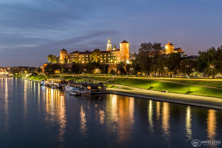 Wawel Royal Castle at Night, Krakow