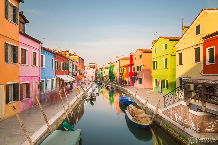 Colourful buildings in Burano, Italy