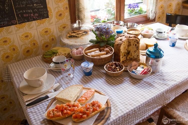 Fantastic Breakfast spread in Venice