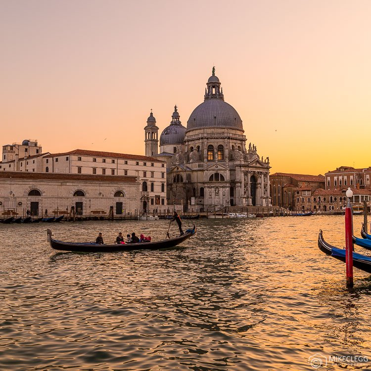 Gondolas and sunsets in Venice
