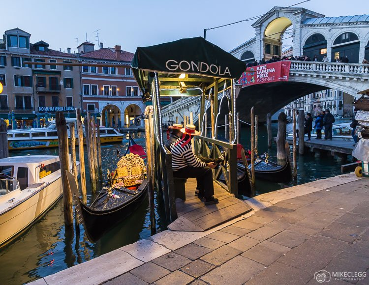 Gondoliers along the Grand Canal