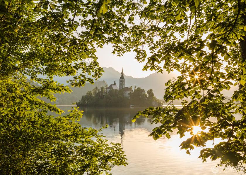 Bled, Slovenia at sunrise
