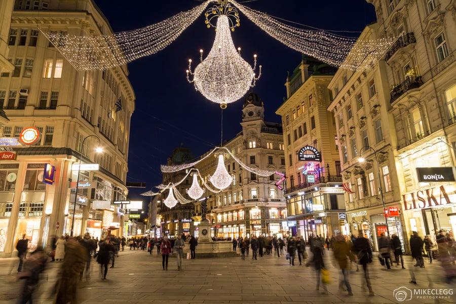 Christmas decorations in Vienna, Austria