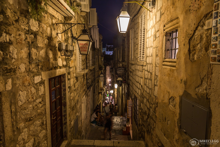 Dubrovnik, Croatia at night