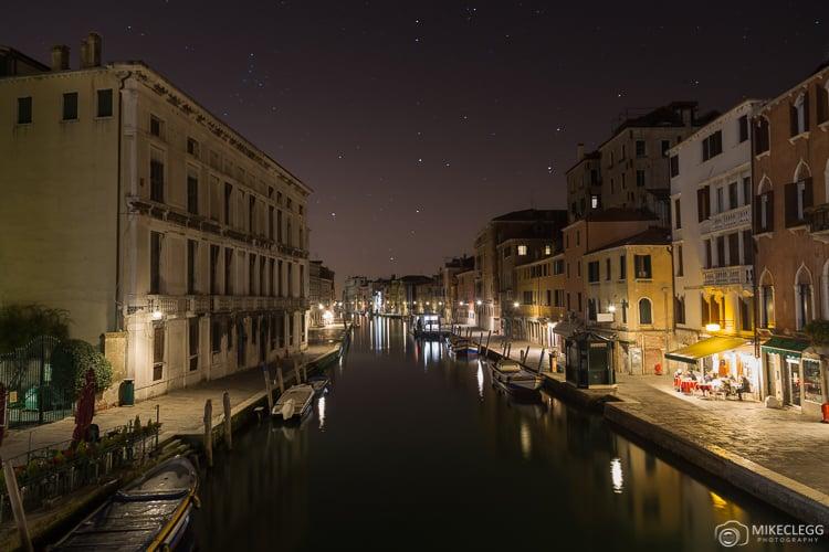 Venetian Lagoon at night.