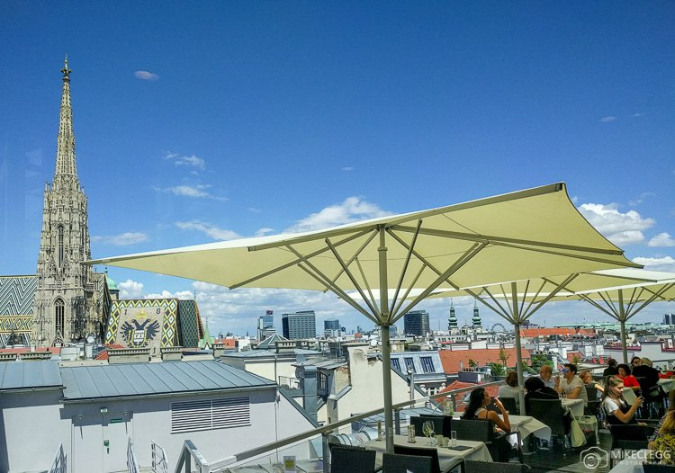 View from Skybar at Steffl Vienna