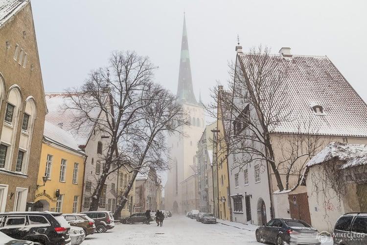 A view towards St Olaf's Church