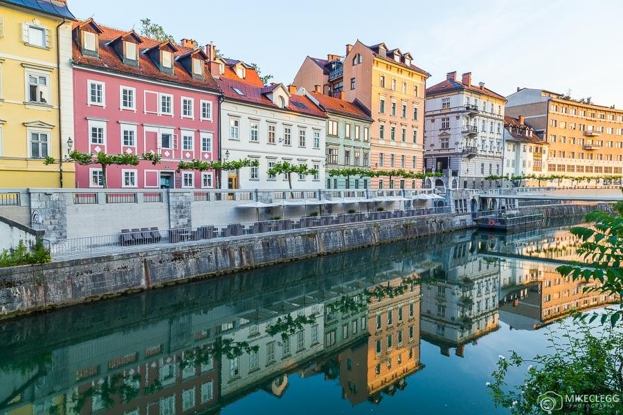Colours along the Ljubljana river