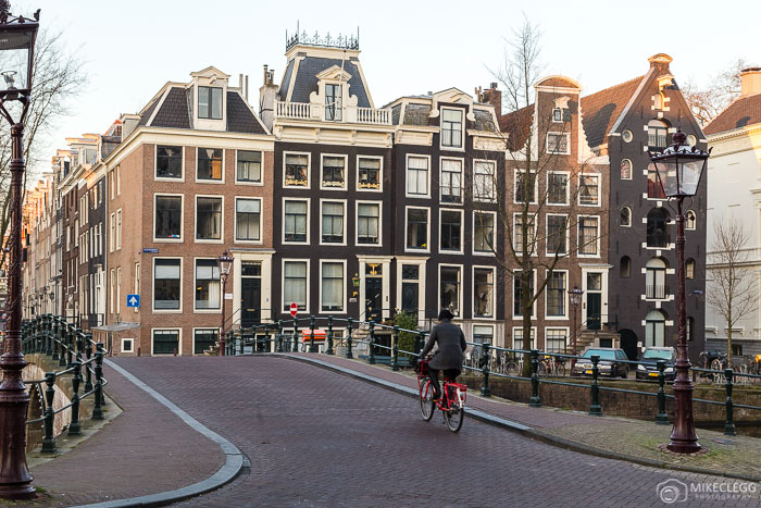 Cyclists in central Amsterdam
