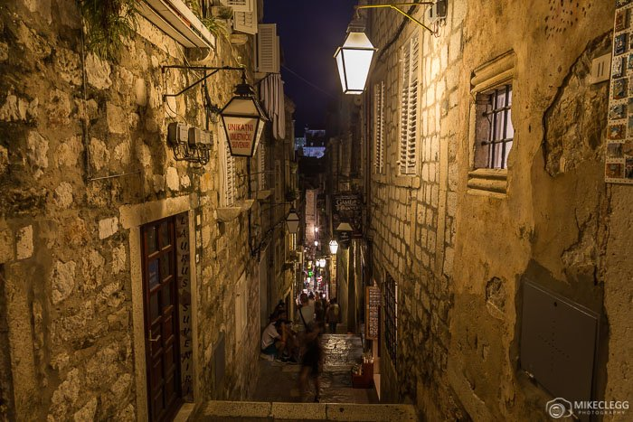 Dubrovnik Old Town at night, Croatia