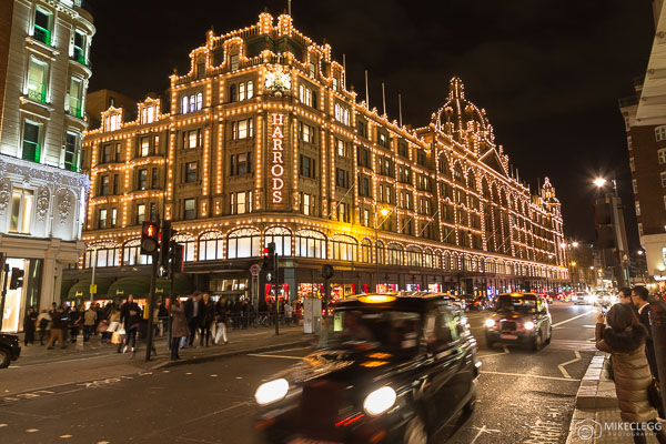 Harrods department store at Christmas