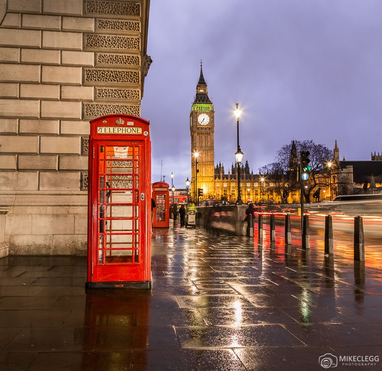 Red Telephone Boxes and Big Ben in London