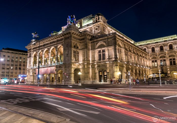 Staatsoper exterior at night