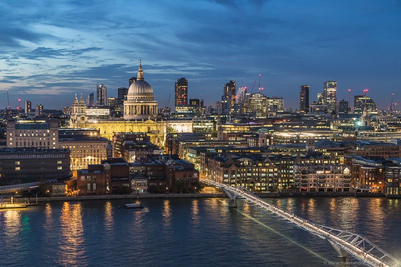 View from the Tate Modern Observation Deck
