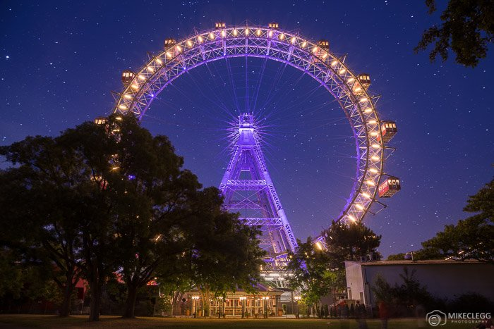 Wiener Riesenrad at night