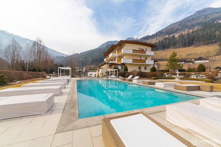 Outdoor pool at Alpen Palace