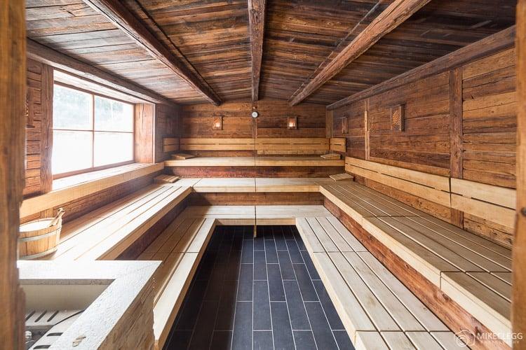 Sauna at Alpen Palace Resort and Spa