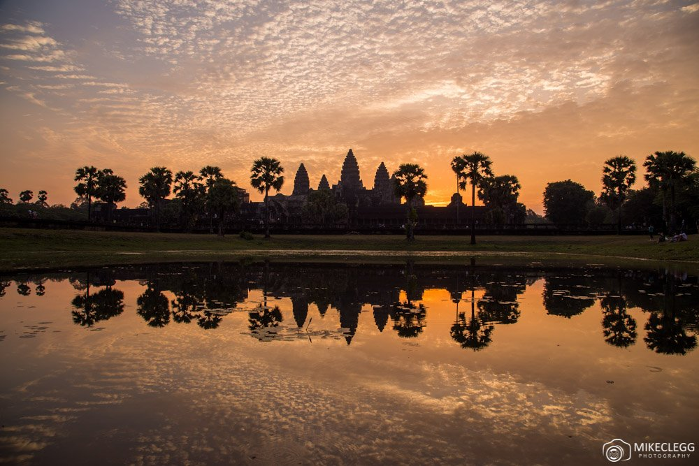 Angkor Wat in Cambodia at Sunrise