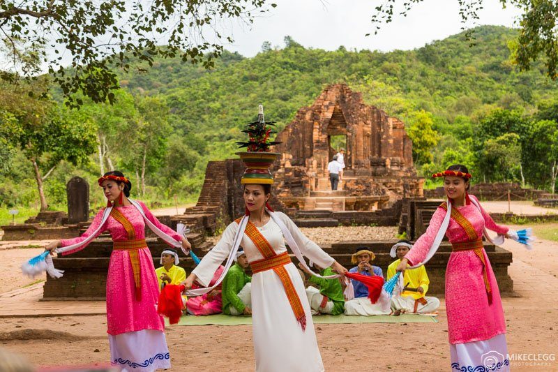 Apsara Dancers at My Son Temples, Vietnam