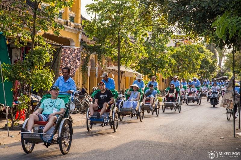 Cyclos in Hoi An, Vietnam