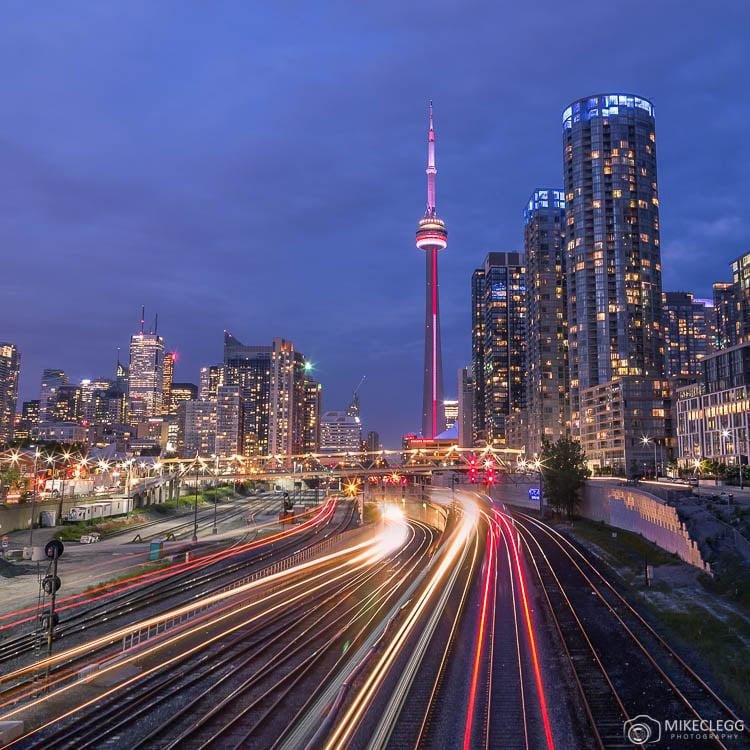 Downtown Toronto from Spadina Avenue Bridge