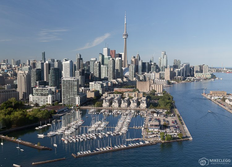 Downtown Toronto from a Helicopter