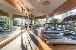 Gym at a hotel