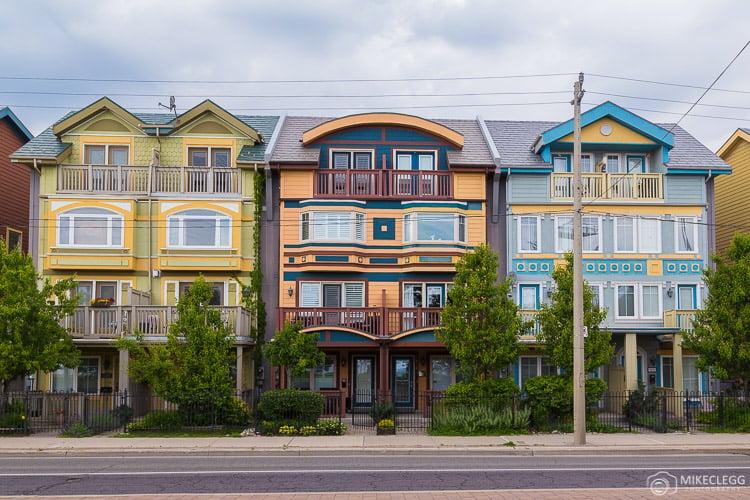 Houses near Woodbine Beach, Toronto
