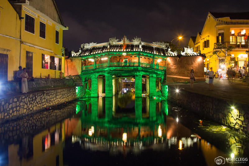Japanese Bridge at night, Hoi An