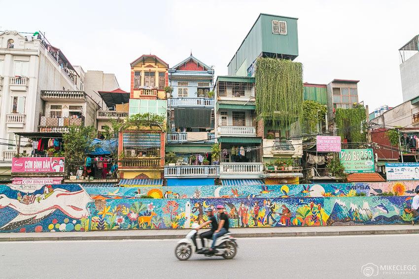 Mosaic along Yen Phu, Hanoi