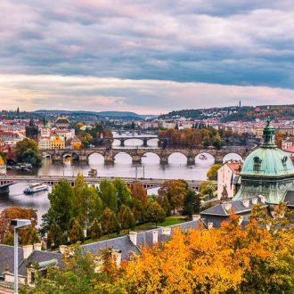 Prague skyline from Letna Hill