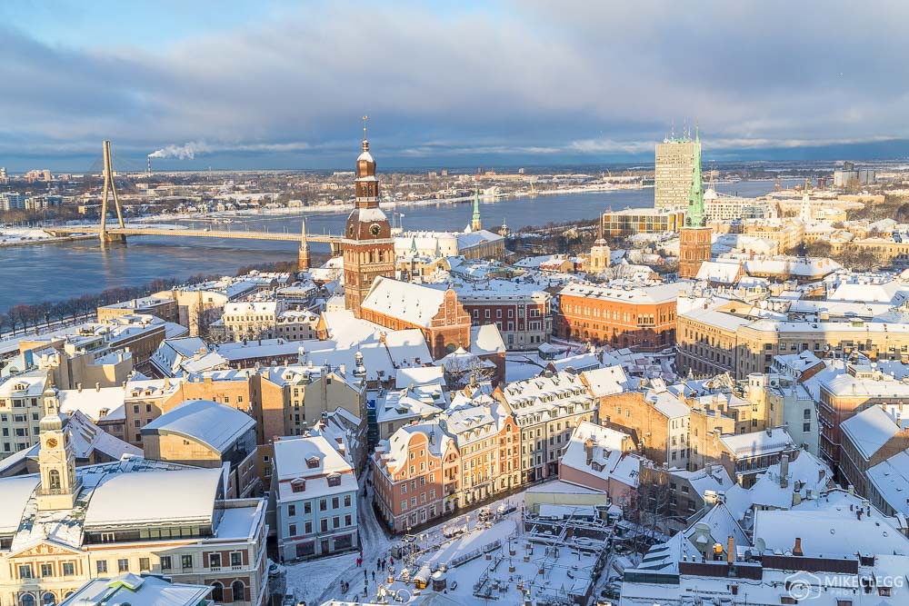 Riga skyline from St Peter's Church