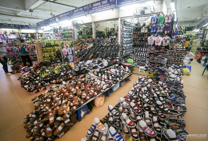 Shops in Dong Xuan Market, Hanoi