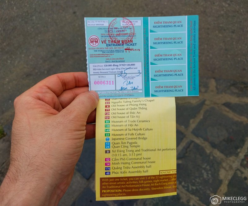 Ticket for Hoi An Ancient Town