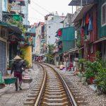 Train Track Street Hanoi, Vietnam