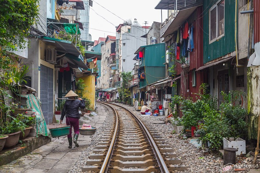 Voie ferrée Rue Hanoi, Vietnam