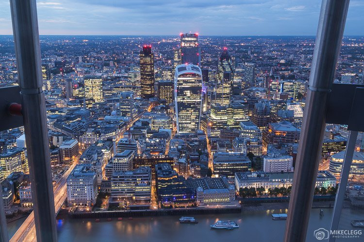 View from the Shard Observation Deck, London