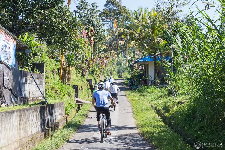 Bicycling activity at Padma Resort Ubud