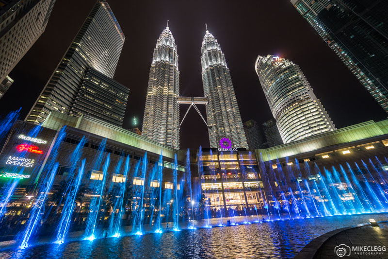 Dancing Water show in KLCC Park outside Petronas Towers