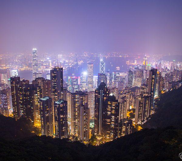 Hong Kong Skyline at night from the Peak
