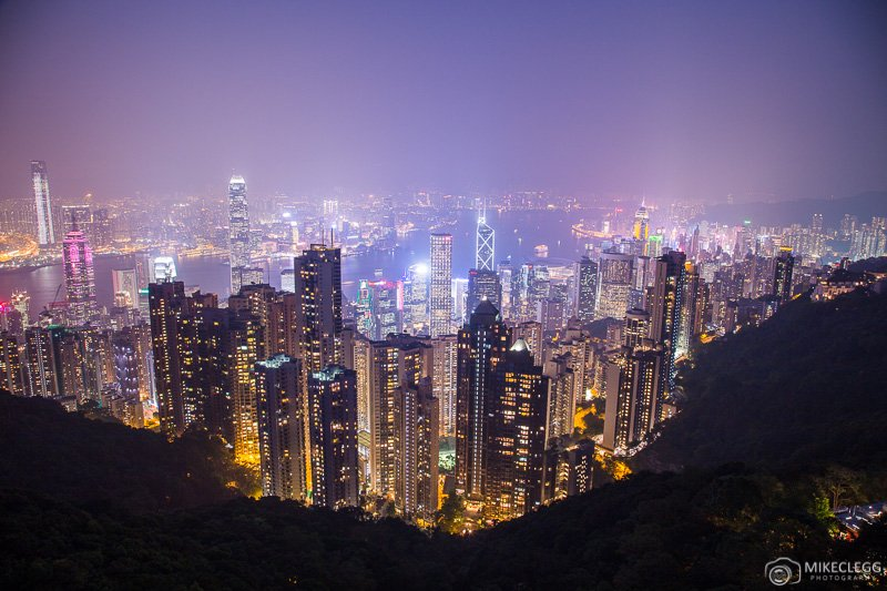 Hong Kong Skyline at night from the Peak