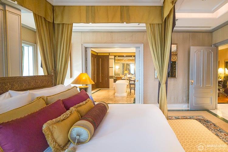 Master bedroom at the Ratanakosin Theme Suite, Plaza Athenee