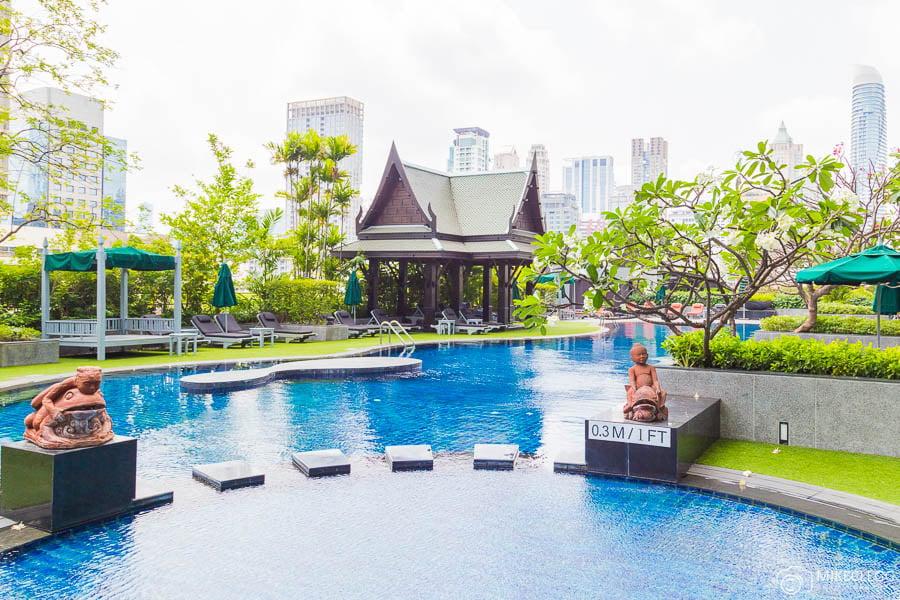 Outdoor Pool at Plaza Athenee Bangkok