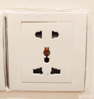 Plug socket in Cambodia