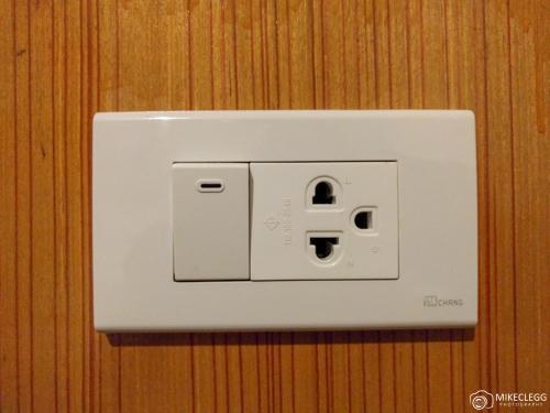 Plug sockets in Thailand