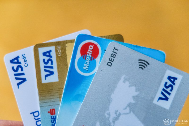 Spare Bank Cards whilst travelling