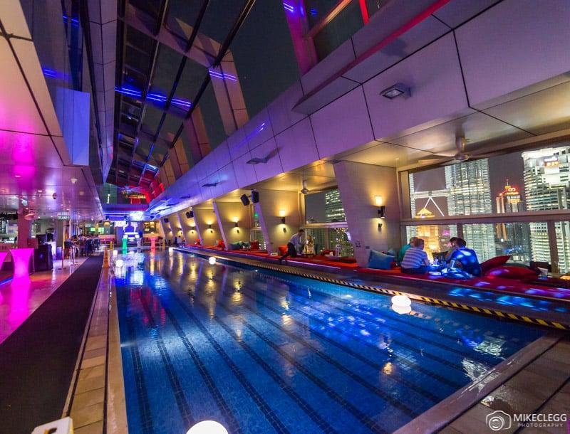 Traders Hotel Skybar at night - Kuala Lumpur