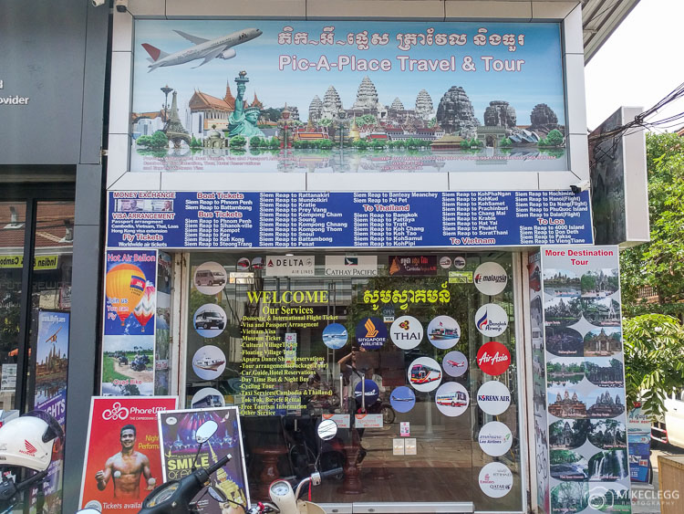 Typical Travel Agency in Cambodia